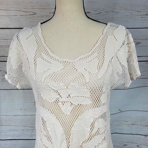 Anthropologie Swim - Lilka Anthro scoop neck opens knit pool cover top